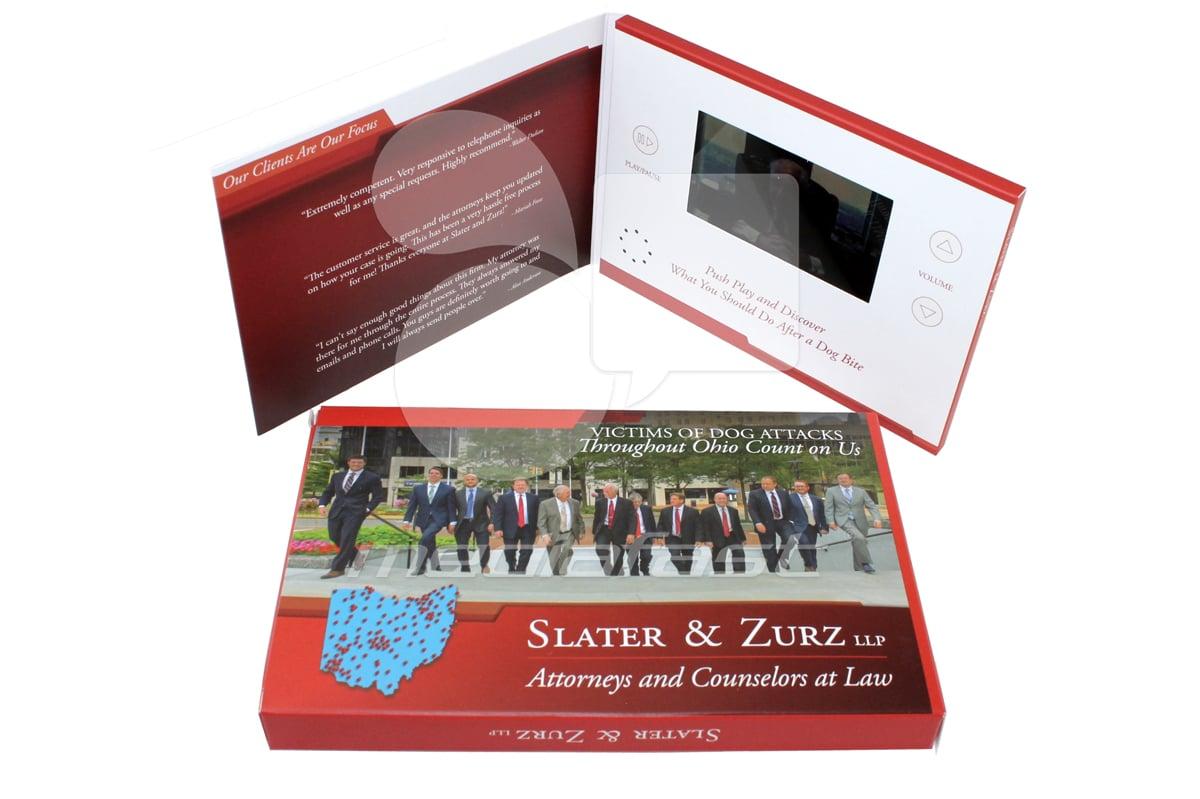 "Slater & Zurz  Brochure 5 x 7 - Screen: 5"""