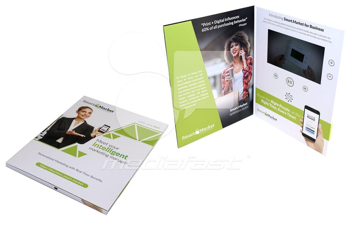 "Smart Market Video Brochure 9 X 12- Screen: 7"" Brochure 9 X 12- Screen: 7"""