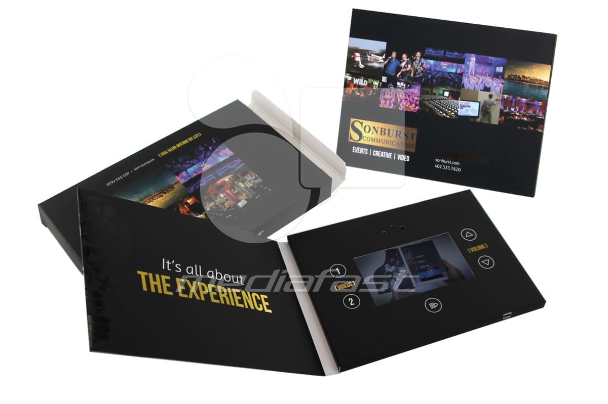 """Sonbrust Communication Mailer Video Brochure 5 X 7- Screen: 4"""""""