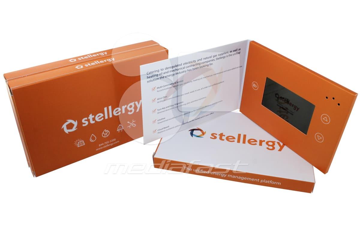 """Stellergy- Mailer Video Brochure 5 X 7- Screen: 4"""""""