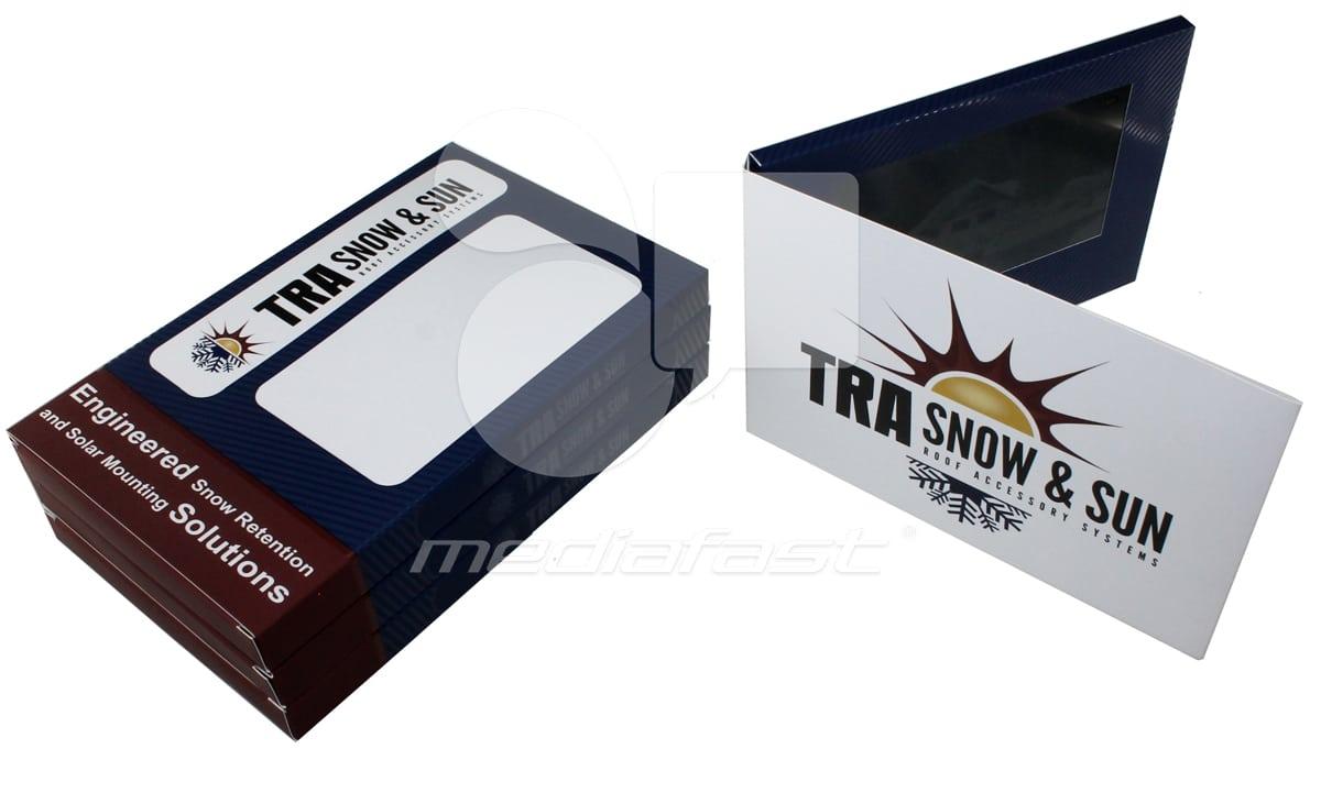 "TRA Snow and Sun Video Brochure 8.5 x 5.75- Screen: 7"""