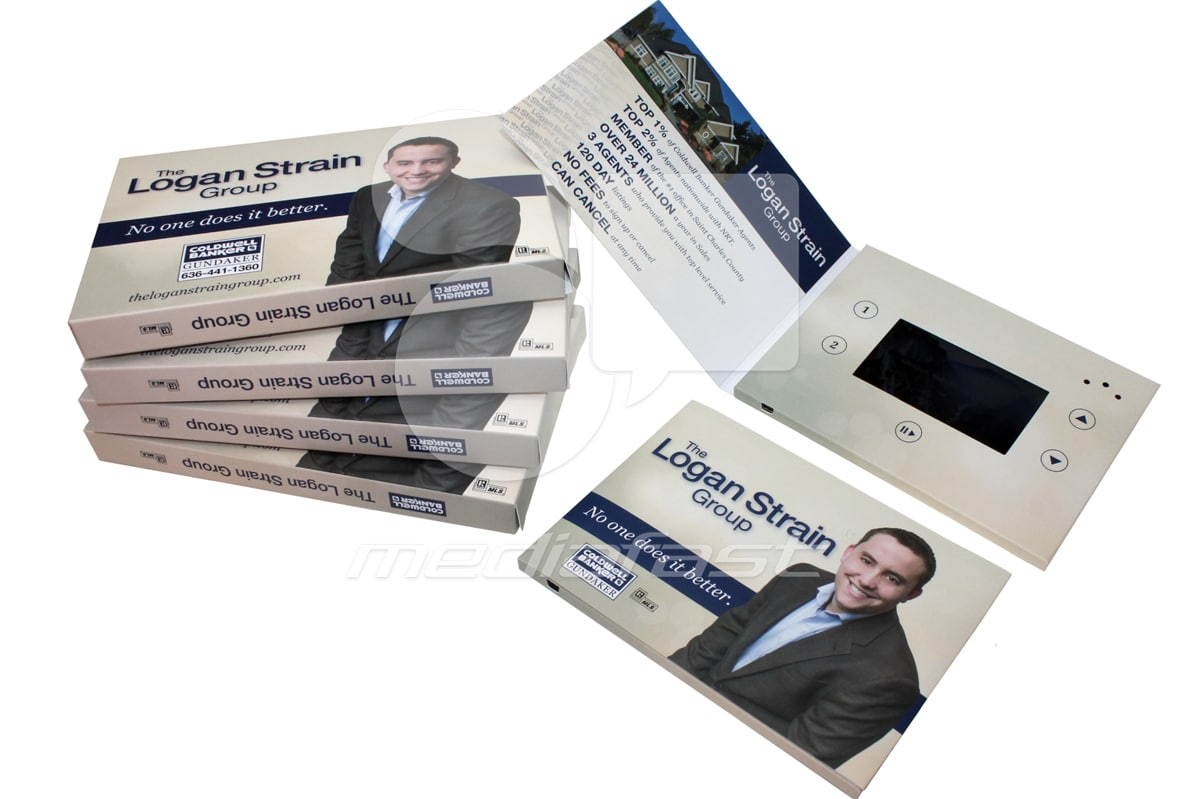 "The Logan Strain Group - Mailer Video Brochure 5 x 7 - Screen: 4"""