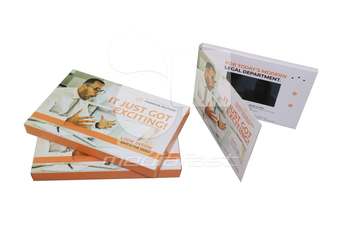 """Thomson Reuter. It Just Got Exciting! with mailer Video Brochure 5 x 7 - Screen: 4"""""""