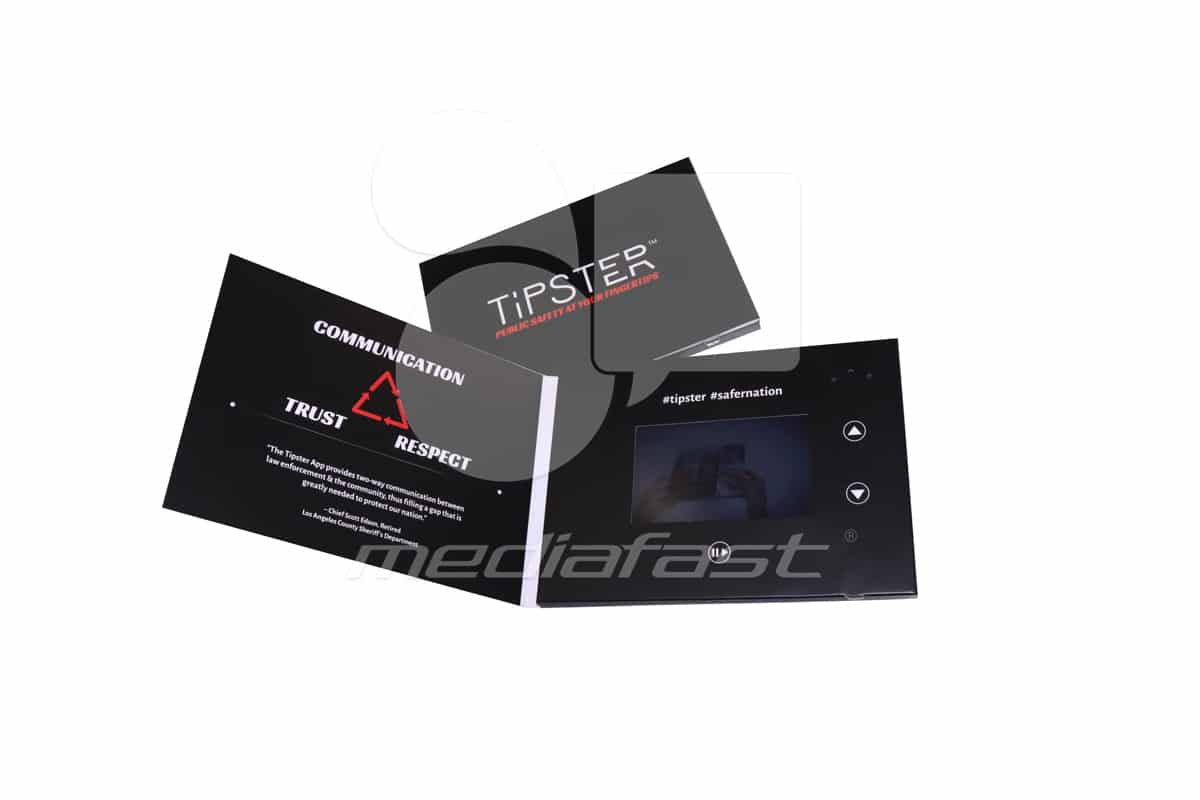 "Tipster Video Brochure 5 x 7 - Screen: 4"""