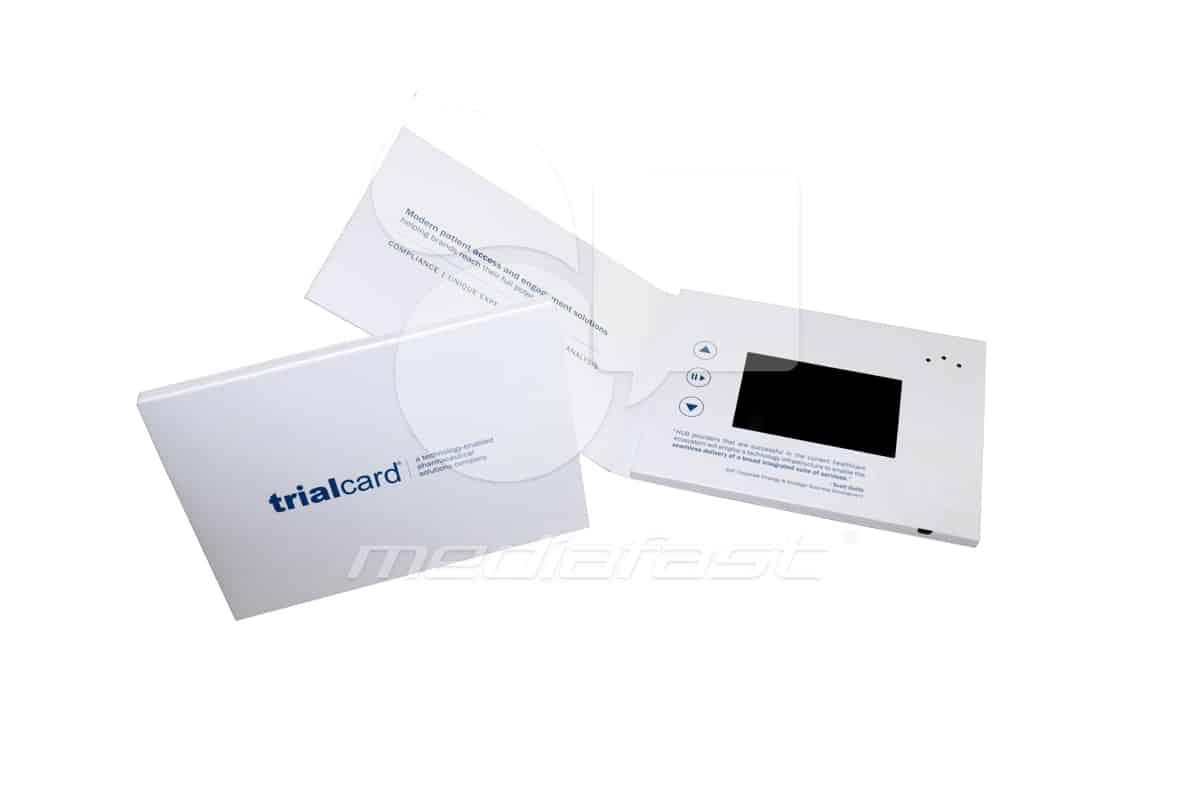 "TrialCard Video Brochure 5 x 7 - Screen: 4"""