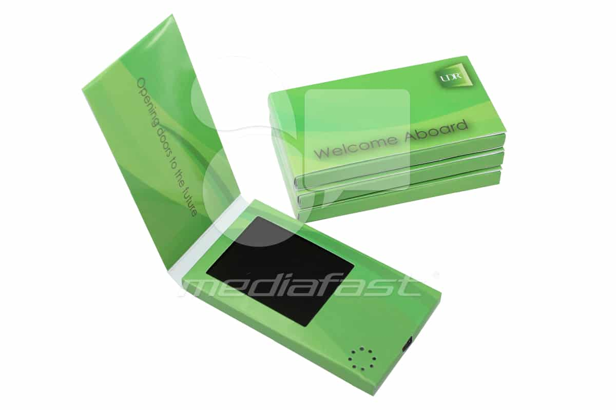 """UDR Welcome Aboard Business Card Video Brochure: 2.37 x 5.62 - Screen: 3"""""""