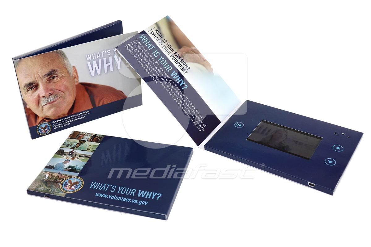 "US DEPARTMENT OF VETERANS Video Brochure 5 x 7 - Screen: 4"""