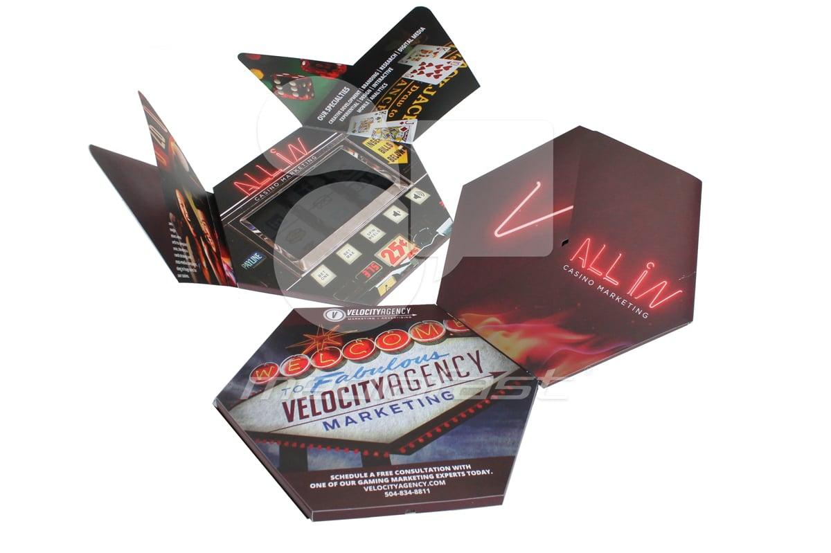 "Velocity -  Hexagon-Gatefold Brochure: 9.5 x 9.5 Screen: 7"""