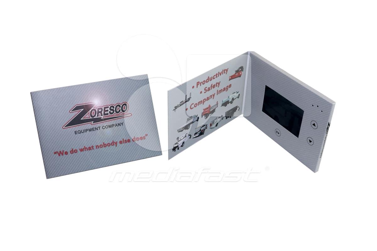 "Zoresco Video Brochure 5 X 7. Screen:4"""