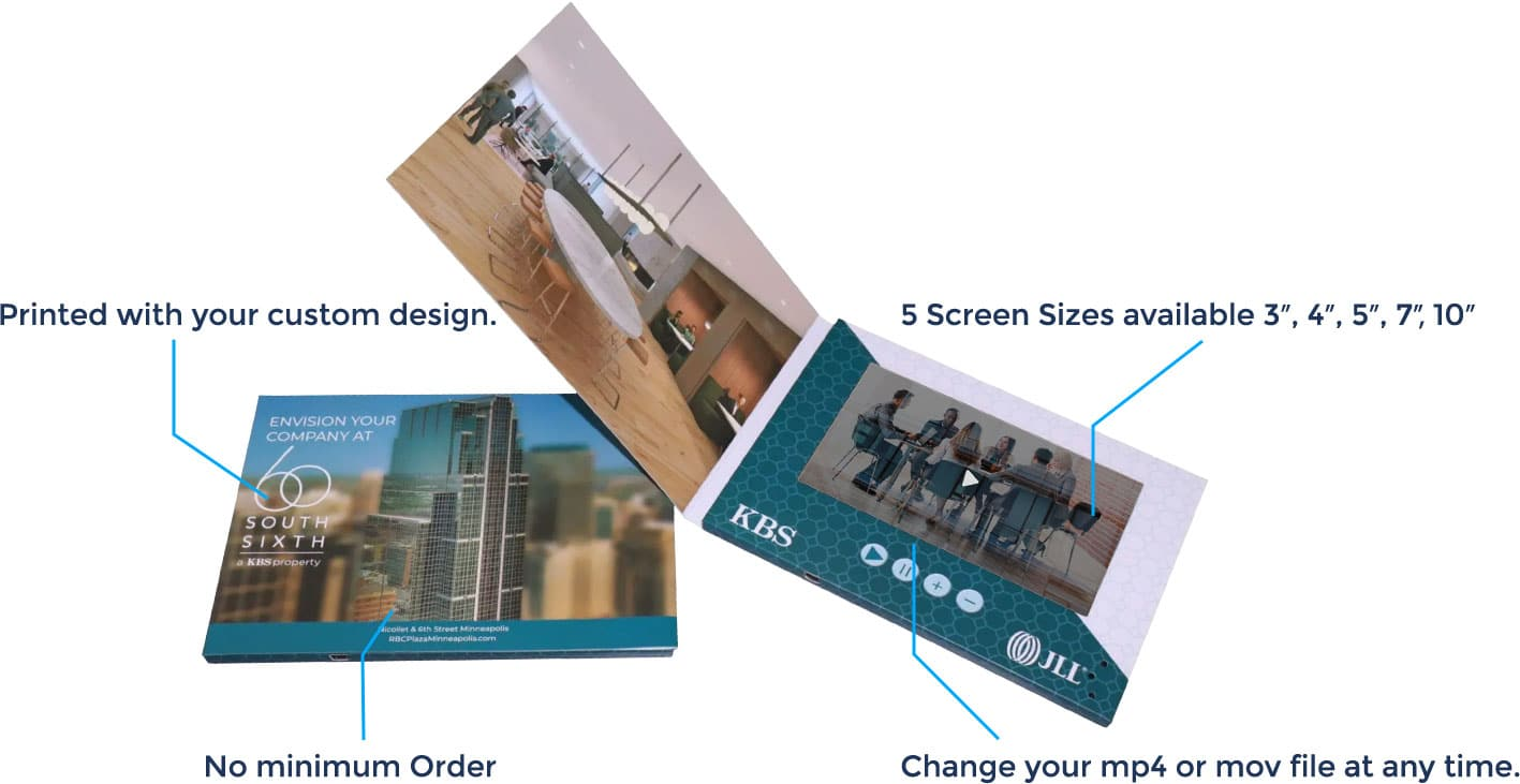 Video brochure components